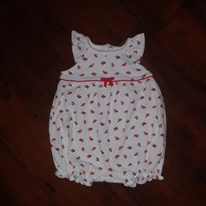Gymboree like new Rose Bubble Romper Outfit 0-3mo